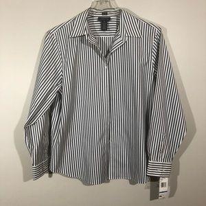 NWT Jones New York Signature B/Down Shirt SZ XL